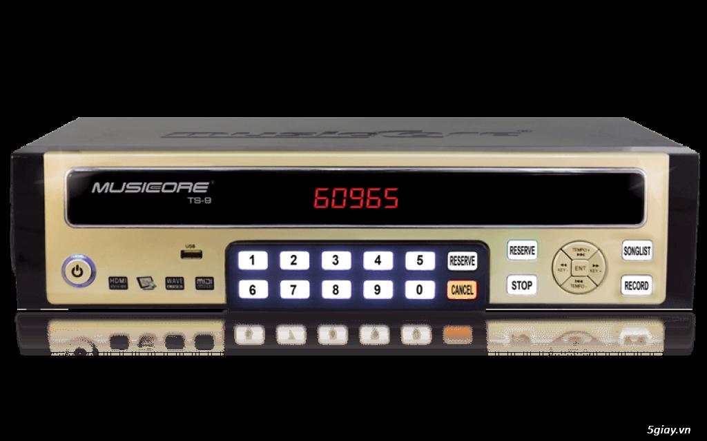 Thanh lý đầu Karaoke MUSICCORE TS-9 HDD + Micro Không dây Shure