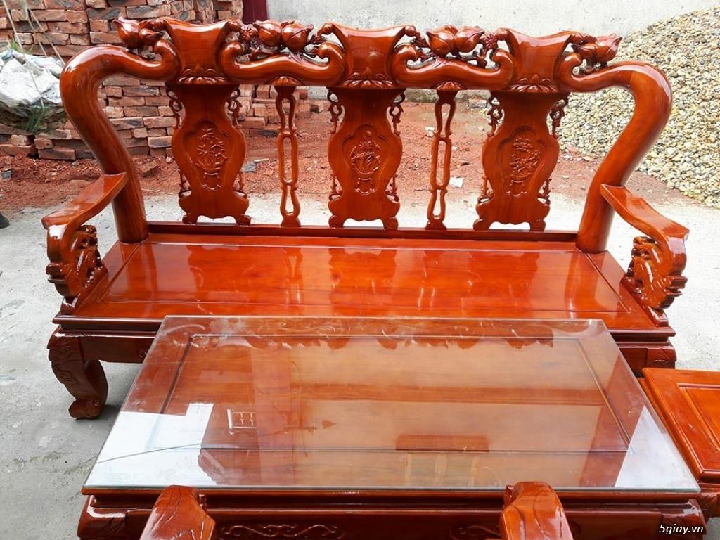Bộ bàn ghế minh quốc đào gỗ xoan ta - 8