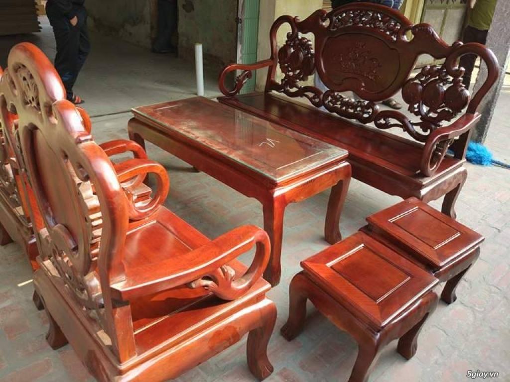 Bộ bàn ghế guột gỗ nhãn phun PU - 4