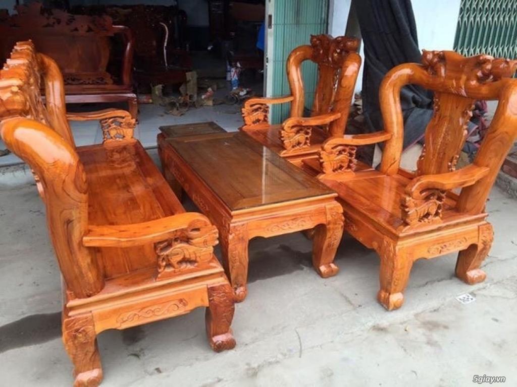 Bộ bàn ghế minh quốc đào gỗ xoan ta - 7