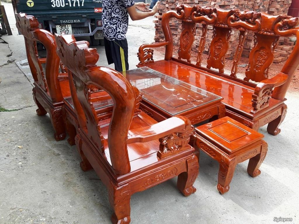 Bộ bàn ghế minh quốc đào gỗ xoan ta - 4