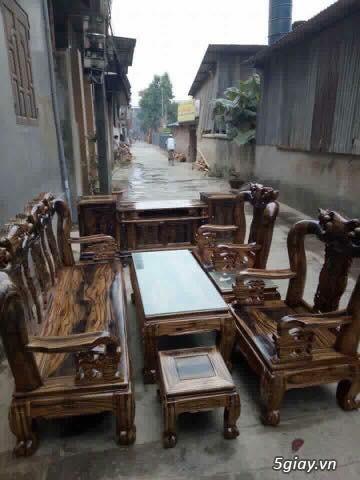 Bộ Bàn Ghế Gỗ Tràm Phun Pu Giả Mun - 6