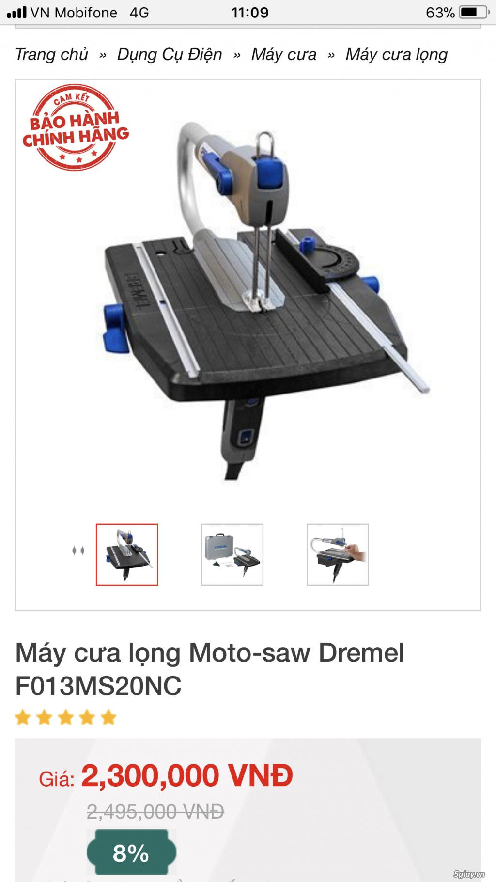 Máy cưa lọng Moto-saw Dremel F013MS20NC - 4