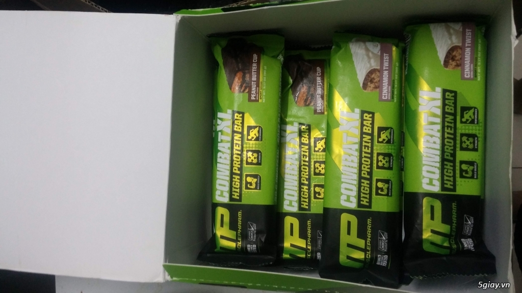 8 thanh Combat XL protein bar của Muscle Pharm - 2