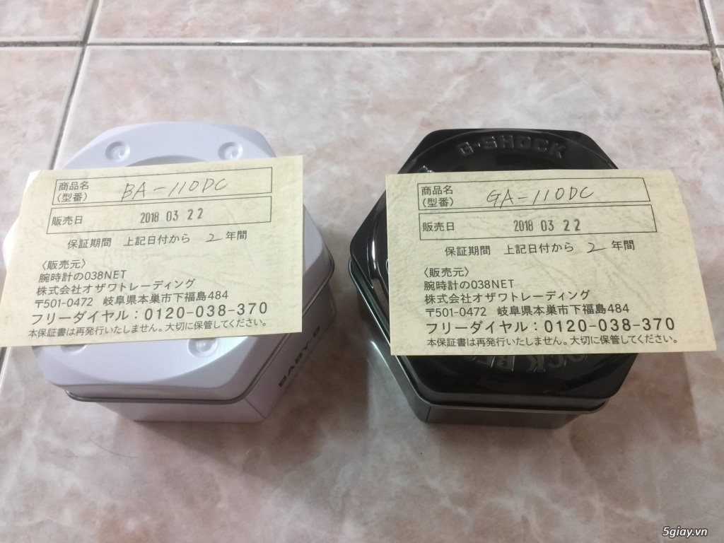 Cần bán cặp đôi CASIO GA-700DE-2A & BA-110DE-2A1 Dây nhựa màu DeNim - 1