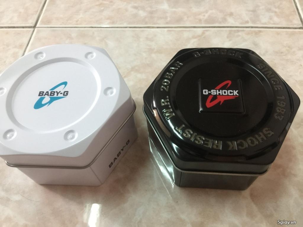 Cần bán cặp đôi CASIO GA-700DE-2A & BA-110DE-2A1 Dây nhựa màu DeNim