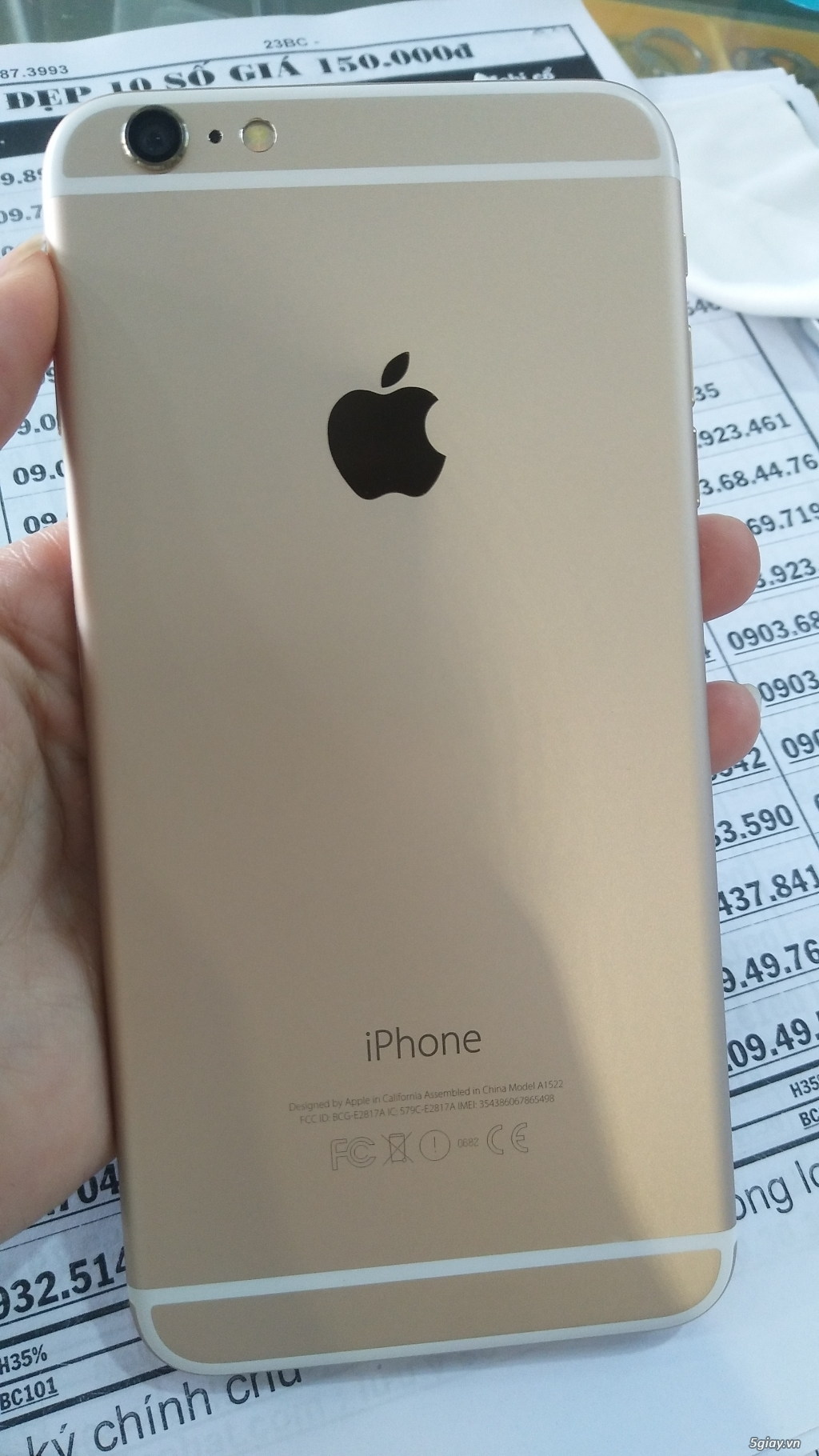iPhone 6 plus Gold 16GB mất vân tay - 2