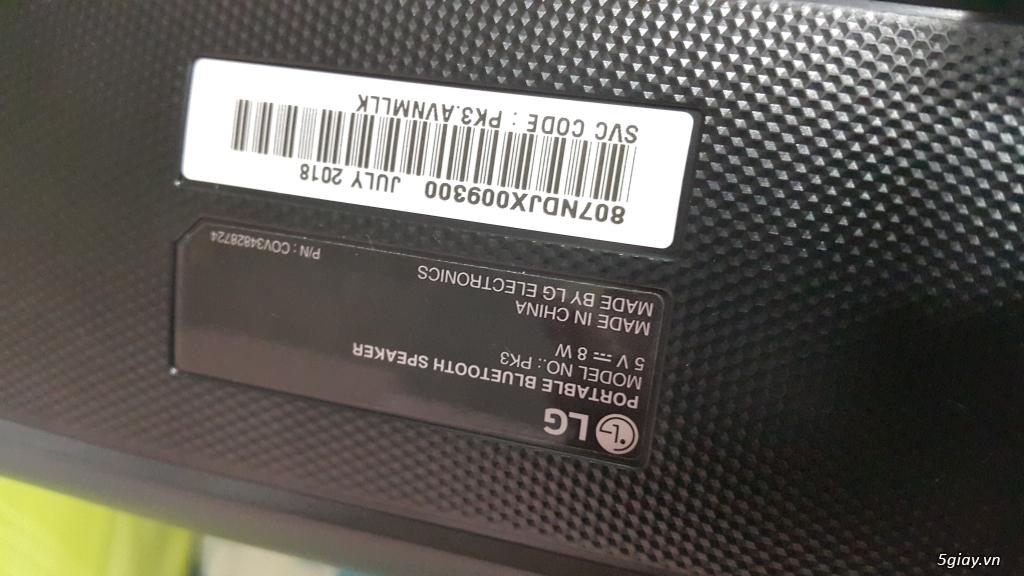 Loa Bluetooth LG PK3 chính hãng, mới 100% End: 23h 06/06/19 - 2