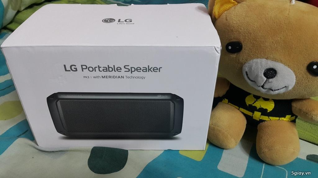 Loa Bluetooth LG PK3 chính hãng, mới 100% End: 23h 06/06/19