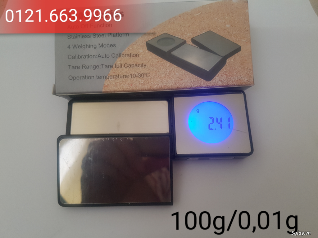 Cân điện tử tiểu ly,bỏ túi,mini tổng hợp từ 100g/0,01g->500g/0,01g - 3