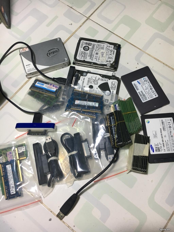 Thanh lý RAM laptop, hdd, ssd, sạc zin Dell & HP