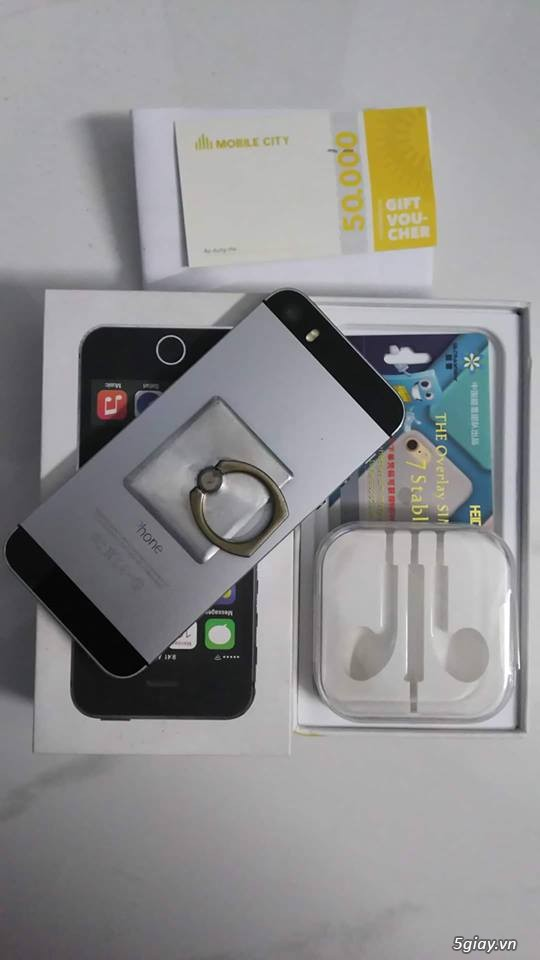 bán Iphone 5s Lock T-Mobile Gray 16gb FULL BOX - 2