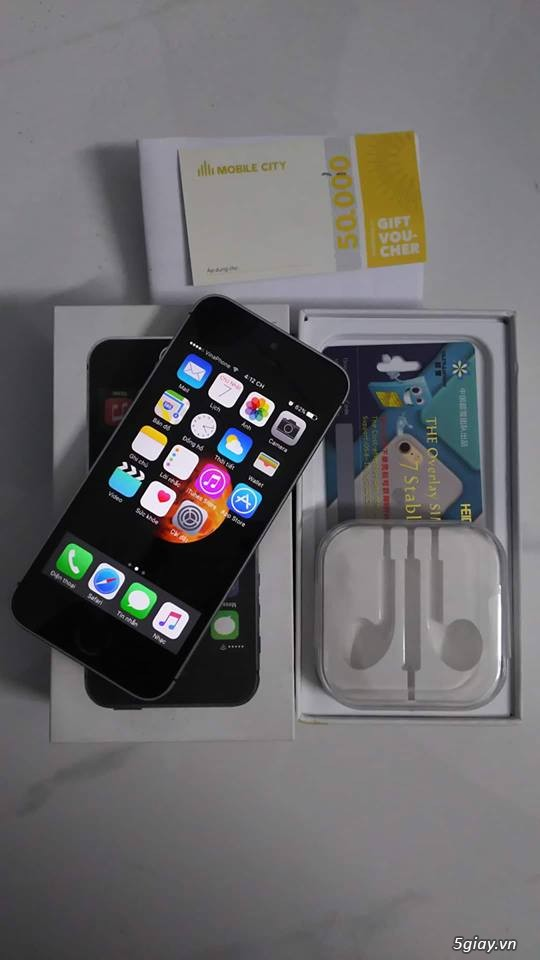 bán Iphone 5s Lock T-Mobile Gray 16gb FULL BOX