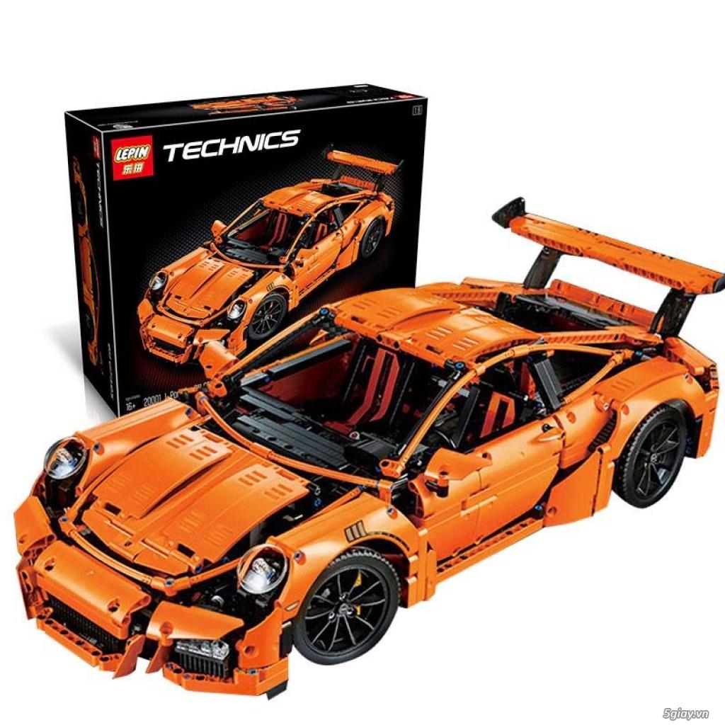 Đồ chơi xếp hình cho bé: Siêu xe Porsche 911 GT3 RS - 4