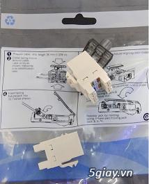 Nhân mạng Modul Jack Cat6 Commscope mã 1375055-1, màu trắng chân đồng - 2