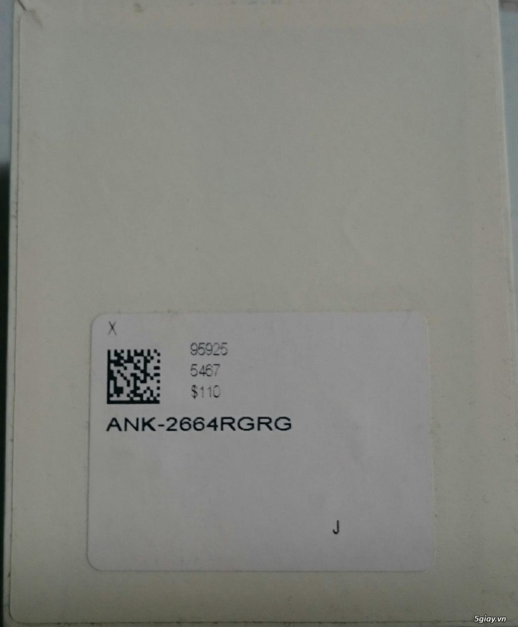 Bán đồng hồ nữ hiệu Anne Klein ANK-2664RGRG mới 100 mặt vuông màu vàng - 1