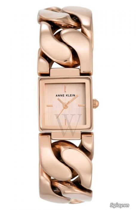 Bán đồng hồ nữ hiệu Anne Klein ANK-2664RGRG mới 100 mặt vuông màu vàng