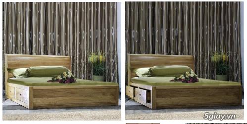 Bán giường gỗ sồi, tủ gỗ sồi, bàn ghế gỗ sồi, kệ tivi gỗ sồi... - 4