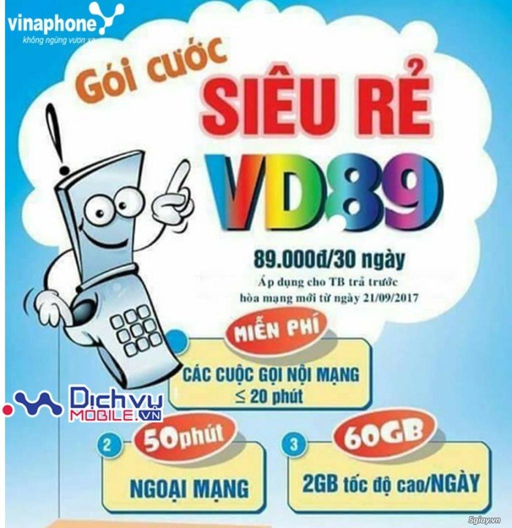 SIM 4G Vinaphone VD89 Tặng 60GB/Tháng Free Tháng Đầu [Chỉ 89K/Tháng]