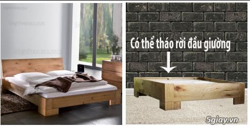 Bán giường gỗ sồi, tủ gỗ sồi, bàn ghế gỗ sồi, kệ tivi gỗ sồi... - 5