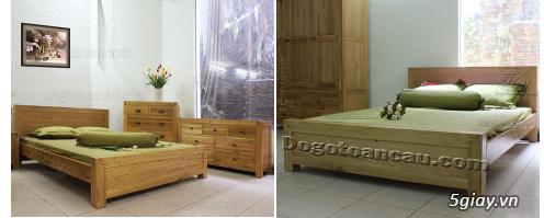 Bán giường gỗ sồi, tủ gỗ sồi, bàn ghế gỗ sồi, kệ tivi gỗ sồi... - 9