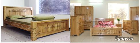 Bán giường gỗ sồi, tủ gỗ sồi, bàn ghế gỗ sồi, kệ tivi gỗ sồi... - 8