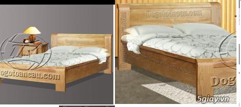 Bán giường gỗ sồi, tủ gỗ sồi, bàn ghế gỗ sồi, kệ tivi gỗ sồi... - 2
