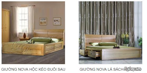 Bán giường gỗ sồi, tủ gỗ sồi, bàn ghế gỗ sồi, kệ tivi gỗ sồi... - 3