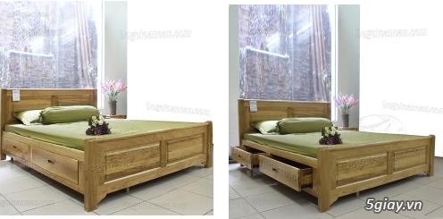 Bán giường gỗ sồi, tủ gỗ sồi, bàn ghế gỗ sồi, kệ tivi gỗ sồi... - 6