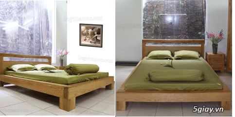 Bán giường gỗ sồi, tủ gỗ sồi, bàn ghế gỗ sồi, kệ tivi gỗ sồi... - 10