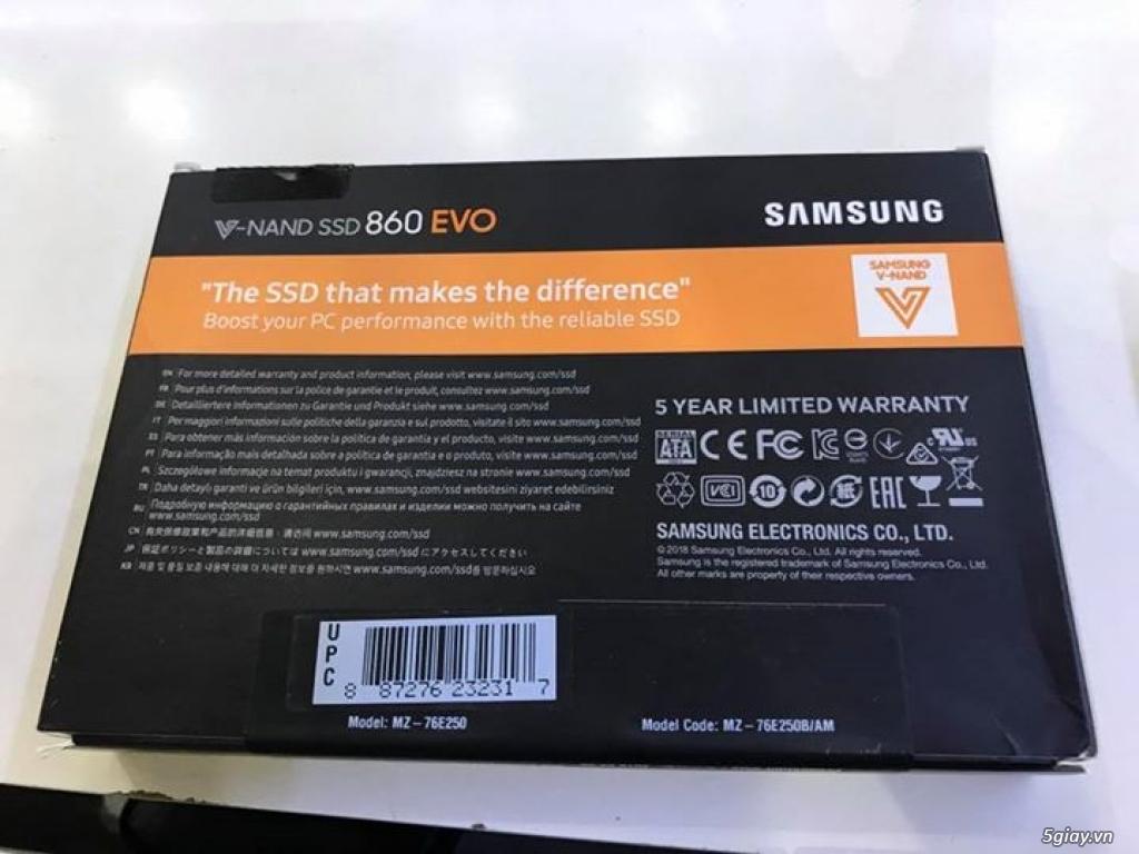 Ổ cứng 250GB SSD Samsung 860 EVO SATA 3 (6Gb/s) hàng Mỹ sealbox giá rẻ - 1