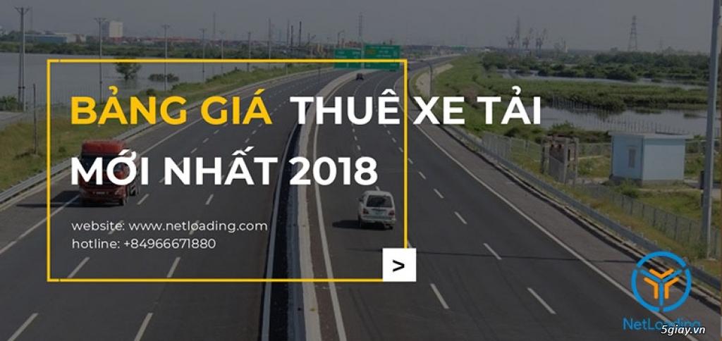 BẢNG GIÁ CHO THUÊ XE TẢI CHỞ HÀNG 2018