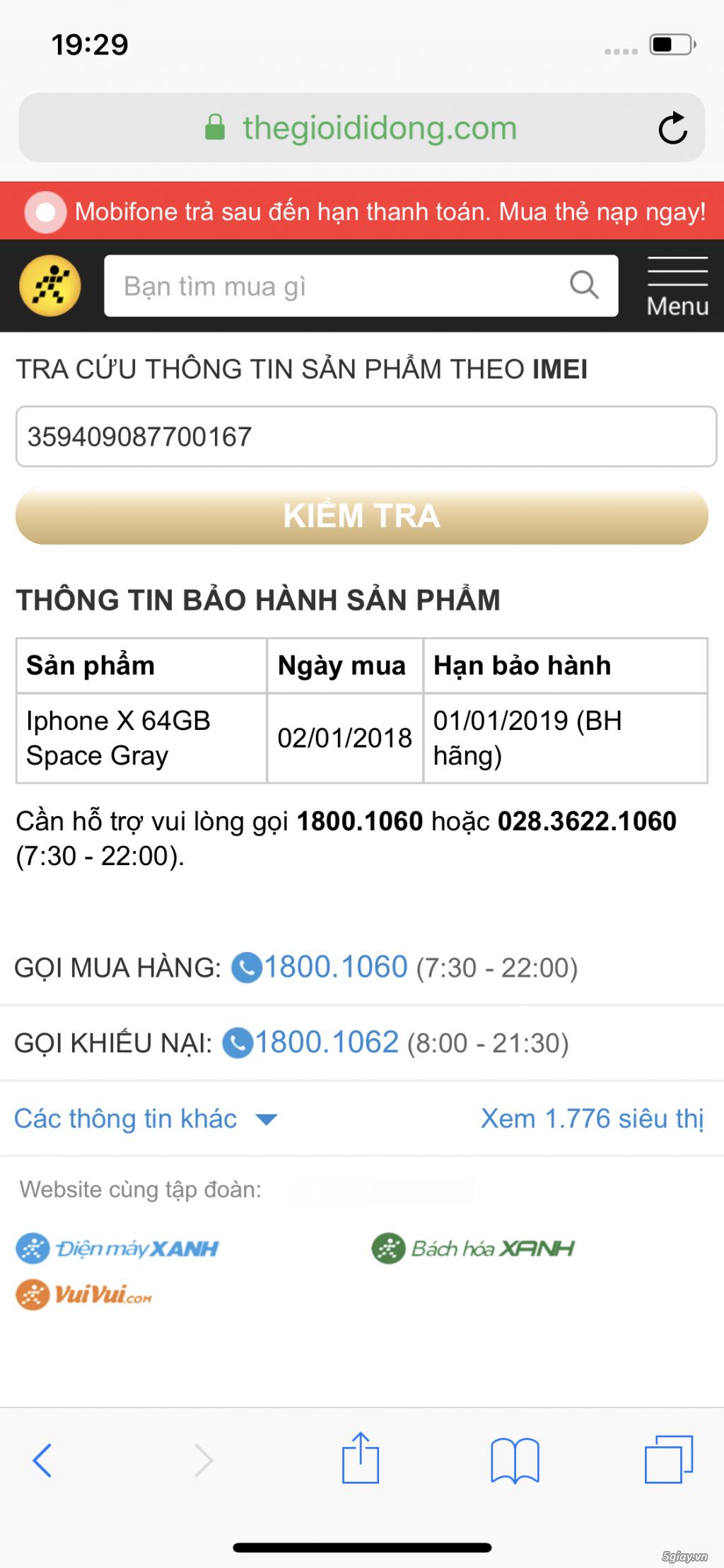 cần bán iphone x hàng TGDD - 1