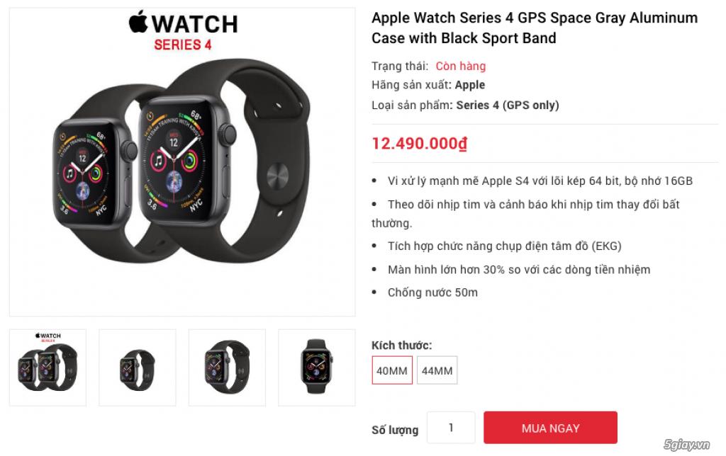 Apple Watch Series 4 40mm và 44mm sealbox bảo hành 12 tháng - 4