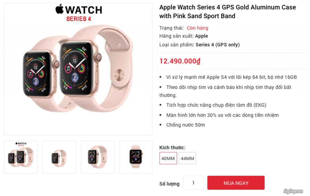 Apple Watch Series 4 40mm và 44mm sealbox bảo hành 12 tháng - 2