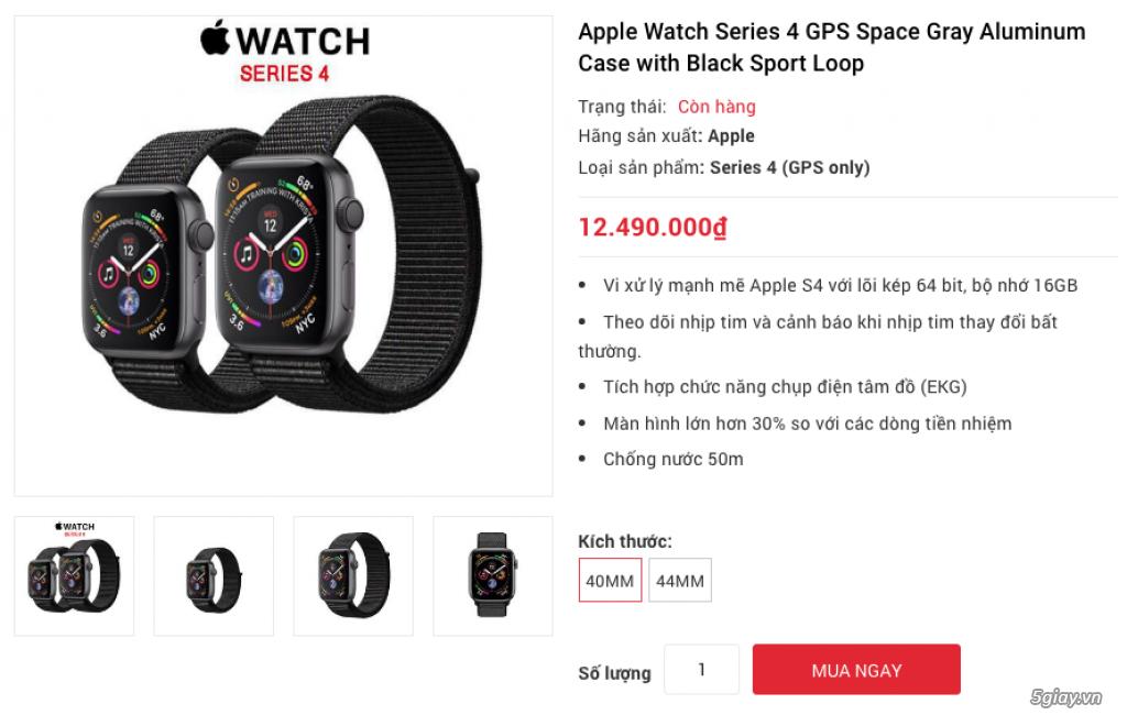 Apple Watch Series 4 40mm và 44mm sealbox bảo hành 12 tháng - 5