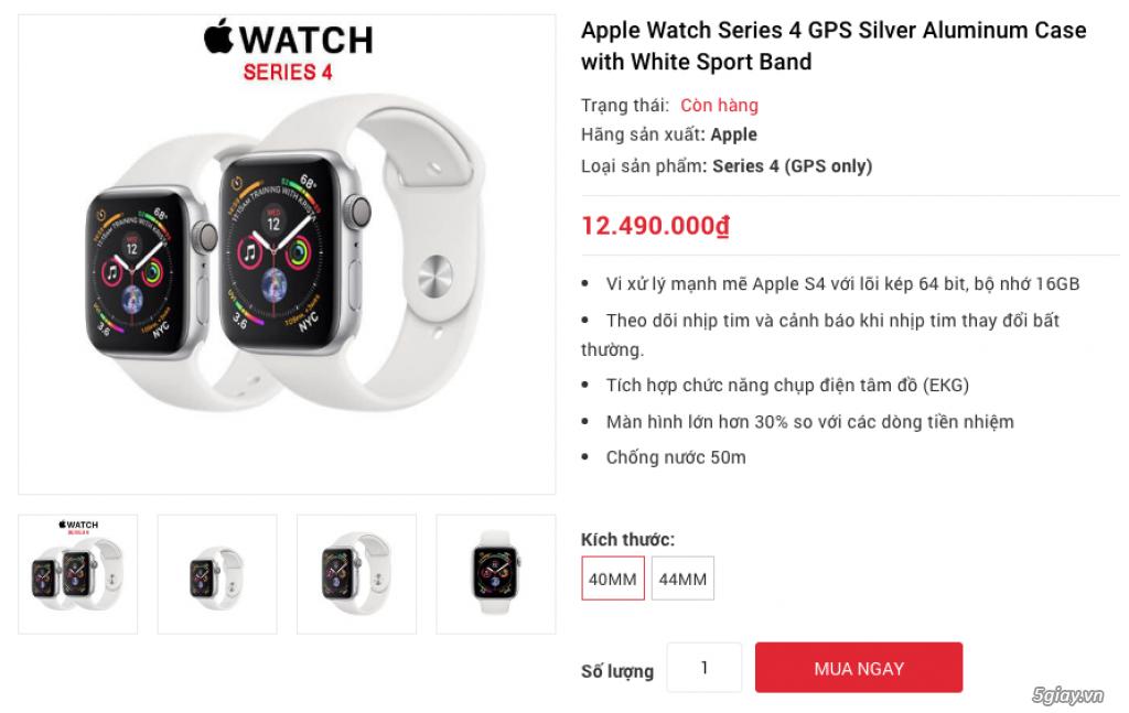Apple Watch Series 4 40mm và 44mm sealbox bảo hành 12 tháng - 3