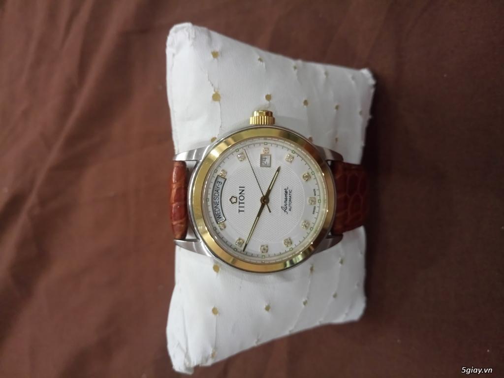 Đồng hồ Tissot auto,Titoni auto,Longines pin.Đang xài cần bán - 14