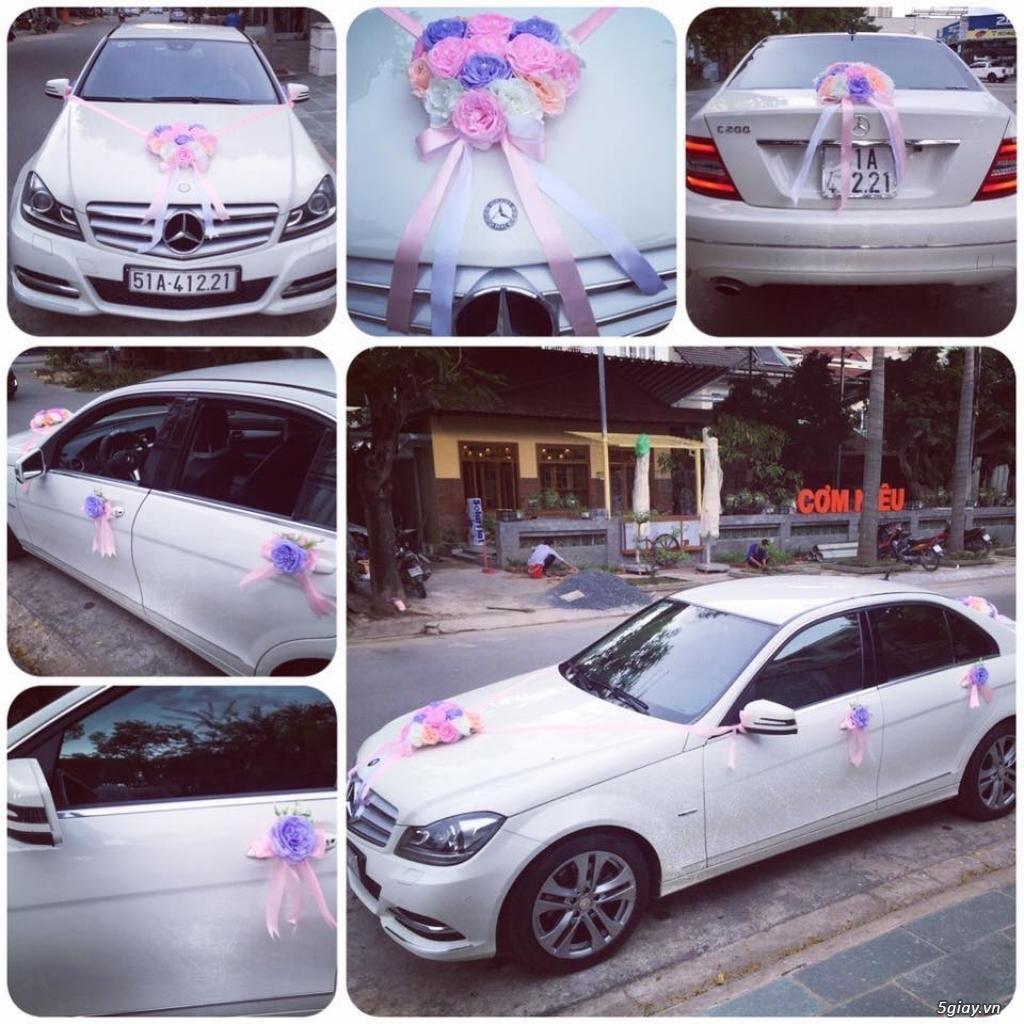 Chuyên cho thuê xe hoa, xe rước dâu Mercedes BMW Camry giá tốt xe đẹp - 12