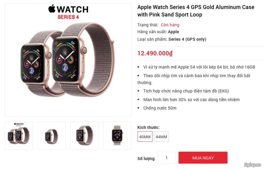 Apple Watch Series 4 40mm và 44mm sealbox bảo hành 12 tháng - 7