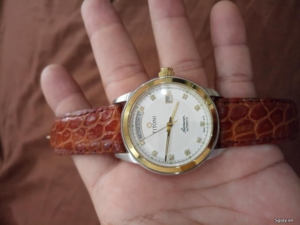 Đồng hồ Tissot auto,Titoni auto,Longines pin.Đang xài cần bán - 12