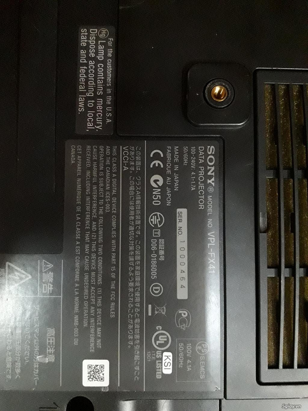 máy chiếu đình đám 1 thời sony vpl-fx41 - 1