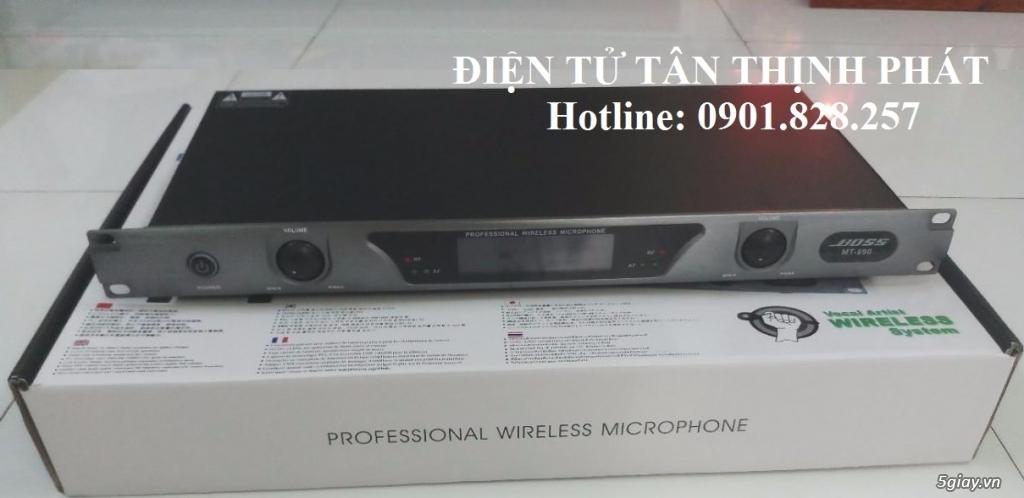 Micro không dây boss mt990 chống hú cực tốt , bắt sóng mạnh giá rẻ - 4
