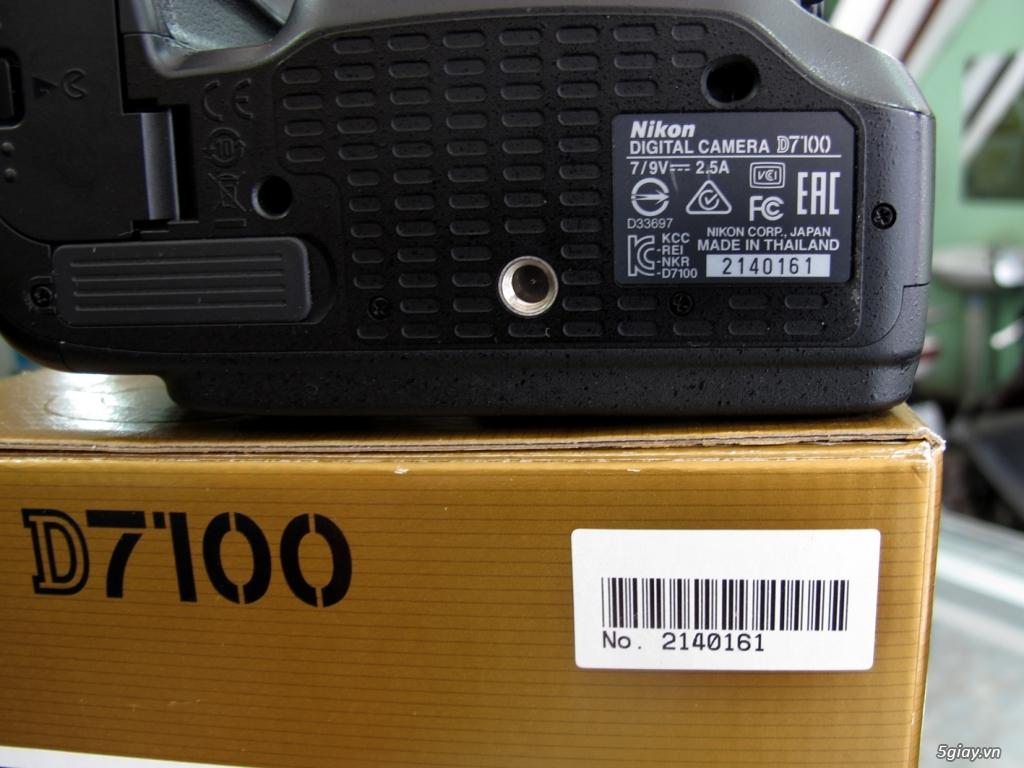 nikon D7100 -như mới Full box -chụp 4k -kèm lens 18-140VR như mới - 3