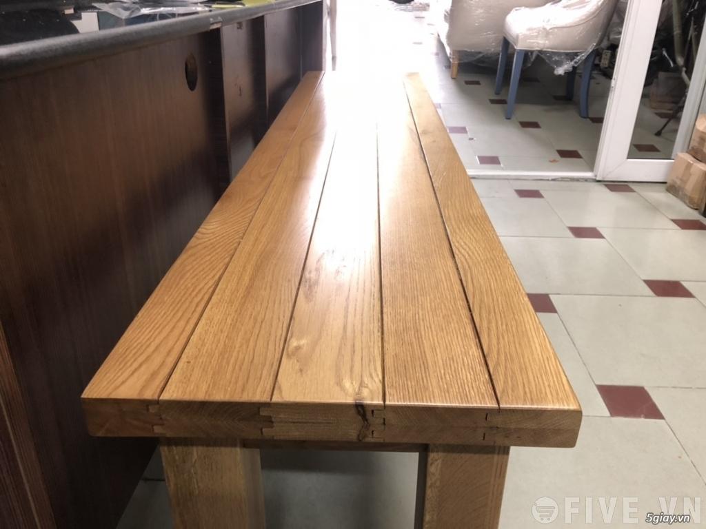 Ghế băng gỗ sồi xuất khẩu Châu Âu 1m8 - 2