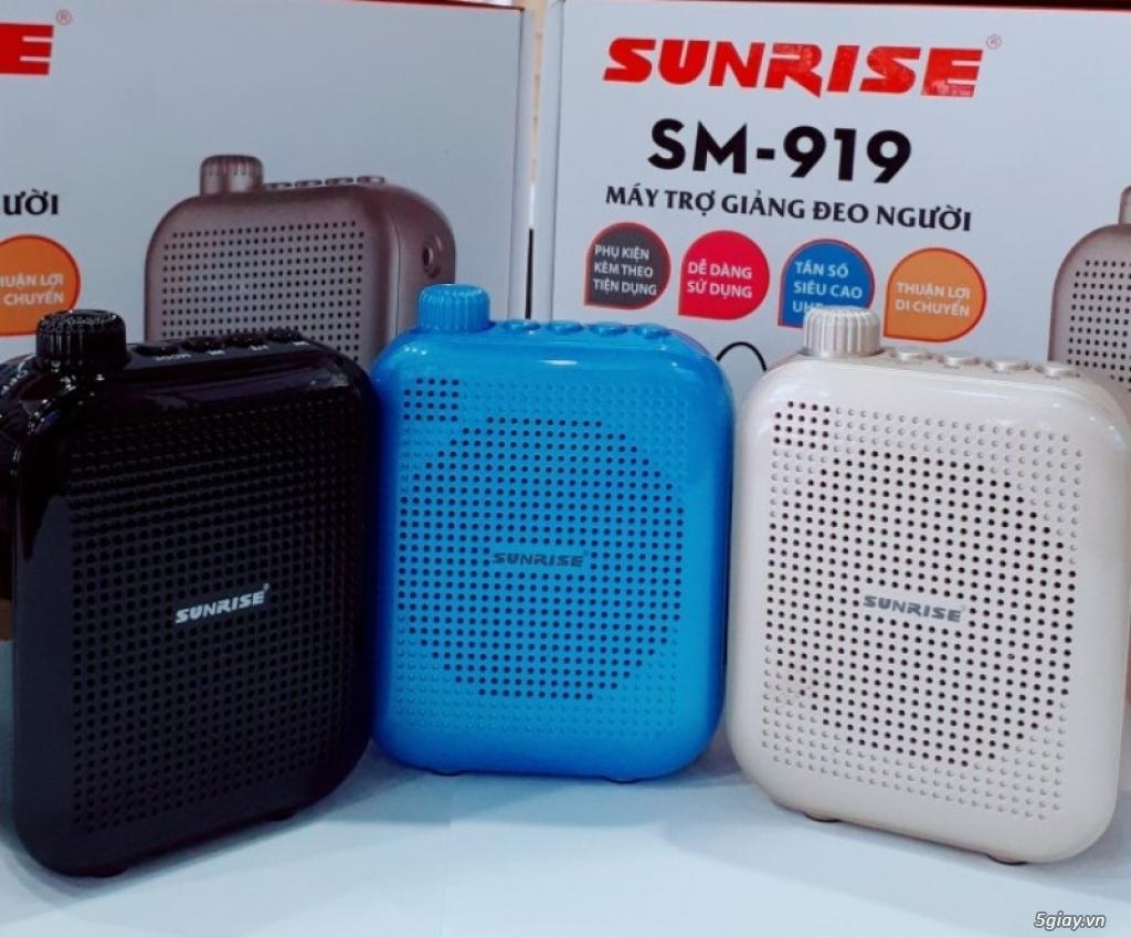 Máy trợ giảng Sunrise SM 919 USB Bluetooth nhỏ gọn, có micro không dây - 2