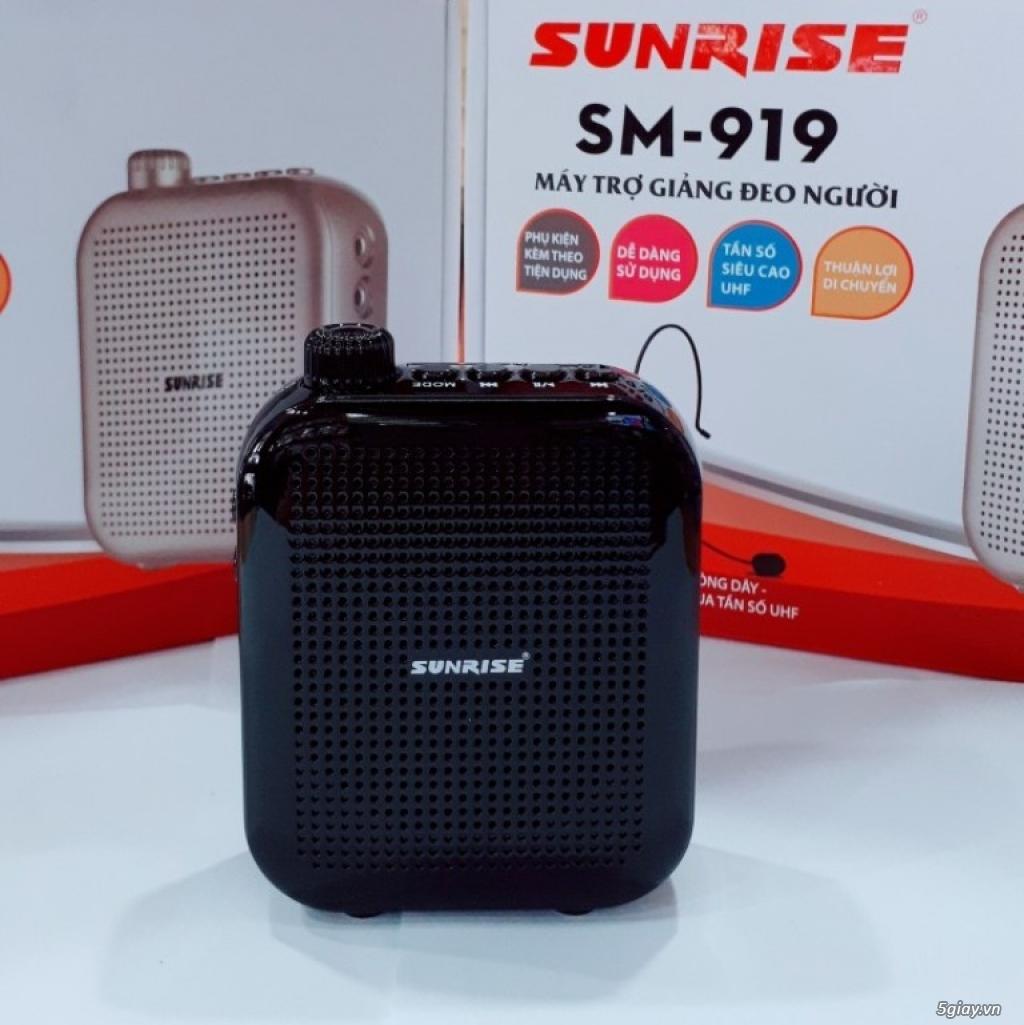 Máy trợ giảng Sunrise SM 919 USB Bluetooth nhỏ gọn, có micro không dây - 3