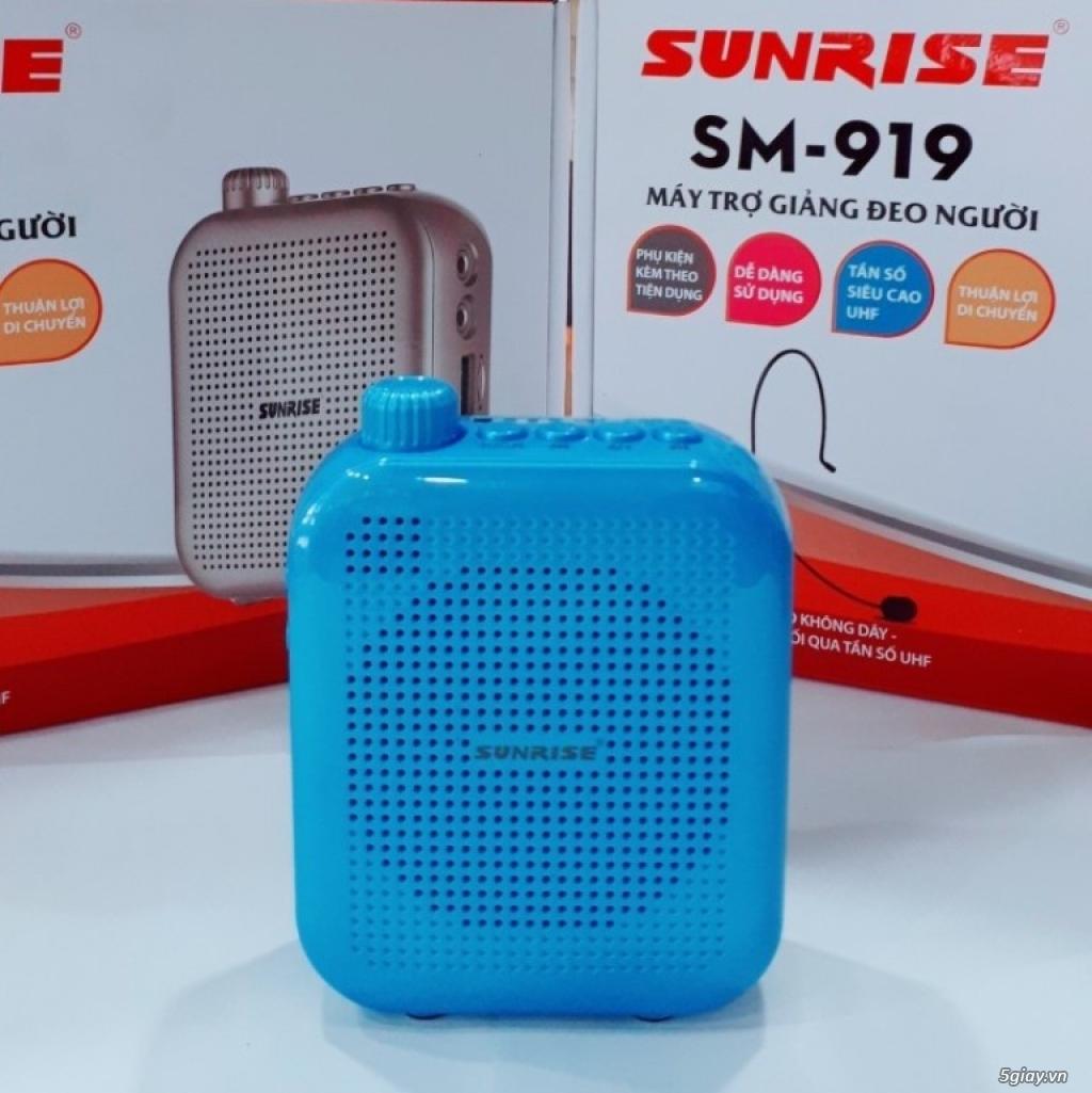 Máy trợ giảng Sunrise SM 919 USB Bluetooth nhỏ gọn, có micro không dây