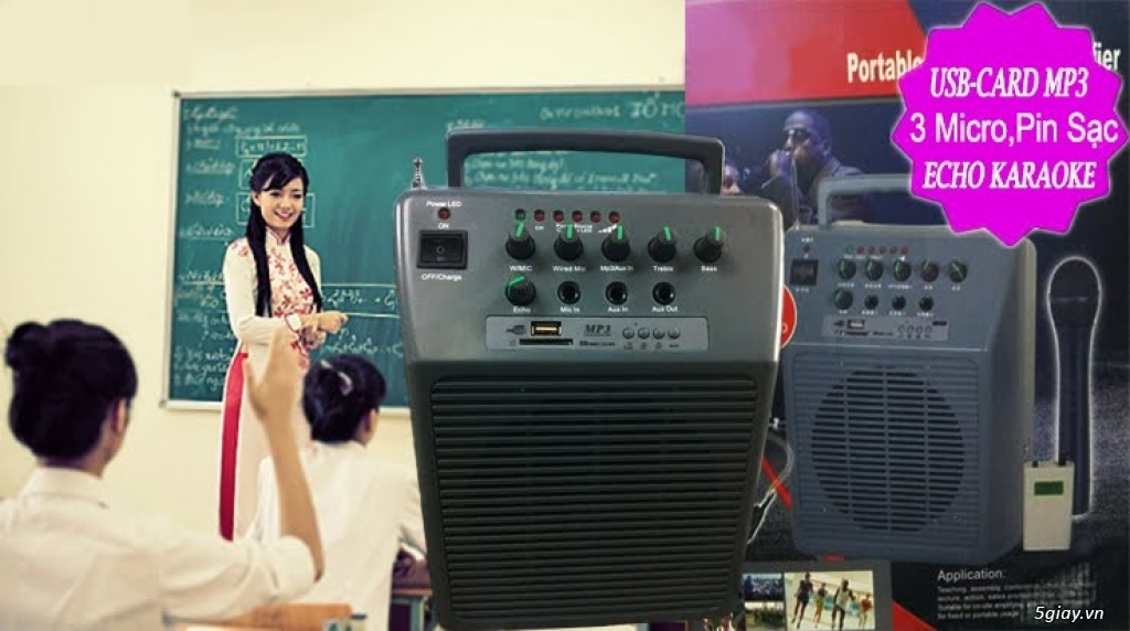 Máy trợ giảng Boss 968 usb, bluetooth, karaoke