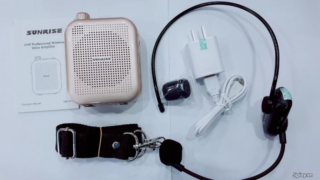 Máy trợ giảng Sunrise SM 919 USB Bluetooth nhỏ gọn, có micro không dây - 1